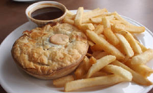 Meat & Potato Pie with Chip & Gravy