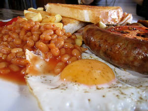 Sausage, Egg, Chips & Beans